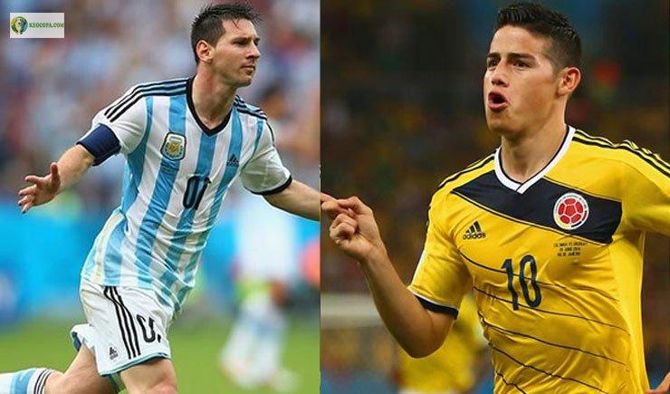 Soi kèo bóng đá trận Argentina vs Colombia