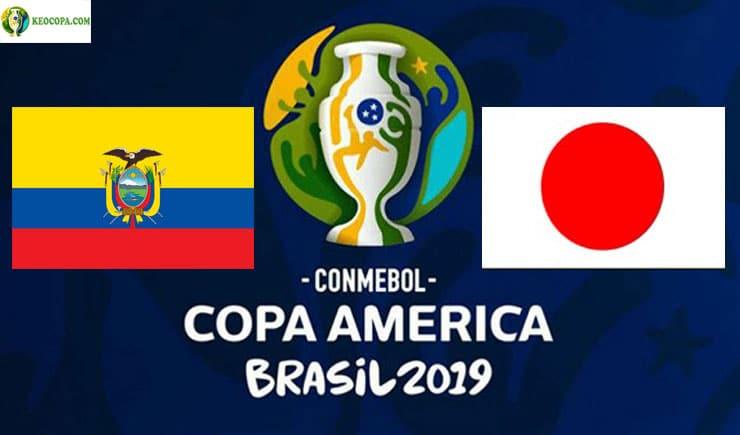 Soi kèo tỷ số bóng đá Copa America trận Ecuador vs Nhật Bản