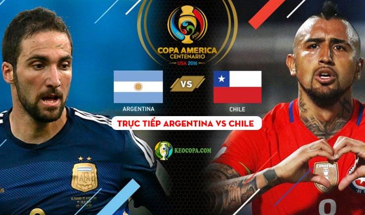 link xem trực tiếp bóng đá trận argentina vs chile