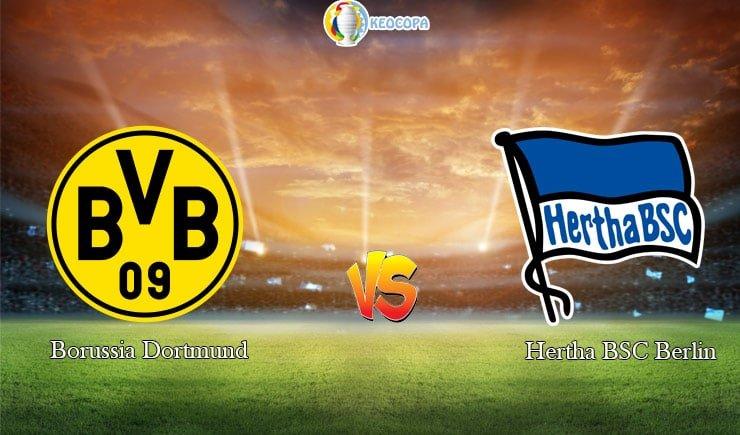 soi kèo trận đấu bóng đá Dortmund vs Hertha Berlin